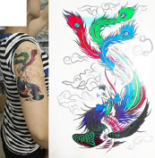 Colourful Temporary Tattoo Stickers Body Art Waterproof Phoenix Bird