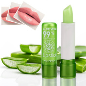 eshion Green Aloe Vera 100% Natural Lipsticks Colour Mood Changing Long Lasting Moisturising Lip Stick