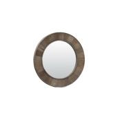 InFurniture WK1811 (round mirror) Round Solid Recycled Fir Mirror, Driftwood