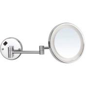 Glimmer Nameeks AR7703-SNI-3x LED Light Wall Mounted Makeup Mirror, 13cm L x 20cm W