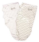 Easy Swaddle, Swaddle Blanket Adjustable Infant Baby Wrap Set 2 Pack