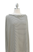 Covered Goods multi-use nursing cover - Black and Ivory Pinstripe
