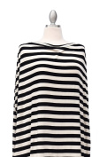 Covered Goods multi-use nursing cover - Classic Black and Ivory Stripe