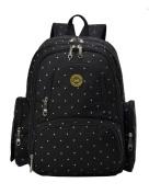 Vlokup Best Multifunction Designer Baby Nappy Bag Backpack Travel Nappy Bag for . Moms & Dads Smart Organise System Waterproof with Baby Bottle bag, Changing Pad, Stroller Straps Black Dot