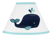 Sweet Jojo Designs Blue Whale Collection Girl or Boy Baby Childrens Lamp Shade