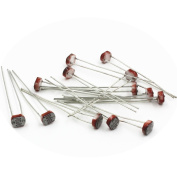 Vanki 20PCS Photoresistor GL5537 5537 LDR Photo Resistors Light-Dependent