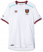 Umbro Boys' West Ham Away Short Sleeve Replica Jersey