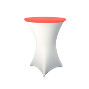 Expand Table Topper, Tablecloth, Cover Red - Slipcover For Cocktail/Poseur Table - Ø 70cm - Stretch