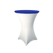 Expand Table Topper, Tablecloth, Cover Royal Blue - Slipcover For Cocktail/Poseur Table - Ø 70cm - Stretch