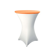 Expand Table Topper, Tablecloth, Cover Orange - Slipcover For Cocktail/Poseur Table - Ø 70cm - Stretch