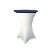 Expand Table Topper, Tablecloth, Cover Navy Blue- Slipcover For Cocktail/Poseur Table - Ø 70cm - Stretch