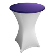 Expand Table Topper, Tablecloth, Cover Dark Purple - Slipcover For Cocktail/Poseur Table - Ø 70cm - Stretch