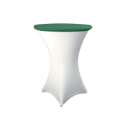 Expand Table Topper, Tablecloth, Cover Dark Green - Slipcover For Cocktail/Poseur Table - Ø 70cm - Stretch