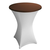 Expand Table Topper, Tablecloth, Cover Brown - Slipcover For Cocktail/Poseur Table - Ø 70cm - Stretch