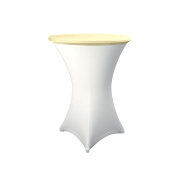 Expand Table Topper, Tablecloth, Cover Beige - Slipcover For Cocktail/Poseur Table - Ø 70cm - Stretch