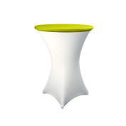 Expand Table Topper, Tablecloth, Cover Light Green - Slipcover For Cocktail/Poseur Table - Ø 80cm - Stretch