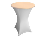 Expand Table Topper, Tablecloth, Cover Beige - Slipcover For Cocktail/Poseur Table - Ø 80cm - Stretch