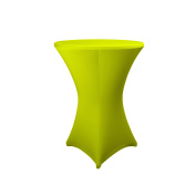 Expand Cocktail Table Cover Light Green - Slipcover, Tablecloth For Round Poseur Table/Bistro Table - Ø 80cm-86cm - Stretch