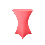 Expand Cocktail Table Cover Fuchsia - Slipcover, Tablecloth For Round Poseur Table/Bistro Table - Ø 80cm-86cm - Stretch
