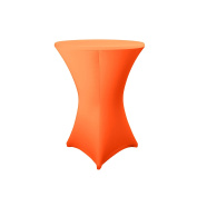 Expand Cocktail Table Cover Orange - Slipcover, Tablecloth For Round Poseur Table/Bistro Table - Ø 80cm-86cm - Stretch