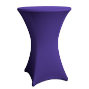 Expand Cocktail Table Cover Dark Purple - Slipcover, Tablecloth For Round Poseur Table/Bistro Table - Ø 70cm-75cm - Stretch