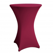 Expand Cocktail Table Cover Burgundy - Slipcover, Tablecloth For Round Poseur Table/Bistro Table - Ø 70cm-75cm - Stretch