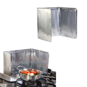 Hrph New Practical Kitchen Stove Foil Plate Prevent Oil Splash Cooking Hot Baffle Easy Clean Kitchens Accessories