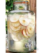Set Of 2 8 Litre Large Nantucket Clip Top Storage Drink Ice Preserving Wine Beverage Dispenser Jar With Tap