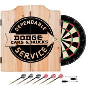 Trademark Gameroom Dodge Service Dart Cabinet Set with Darts & Board