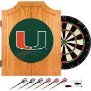 Trademark Gameroom University of Miami Wood Dart Cabinet Set - Reflection