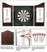 Carmelli Centerpoint Solid Wood Dart Cabinet Set - Dark Cherry Ng1041Ch