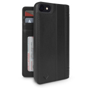 Twelve South Journal Leather Wallet Shell Case with Display Stand for iPhone 7 - Black