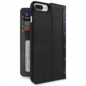 Twelve South BookBook 3-in-1 Leather Wallet Case with Display Stand for iPhone 7 Plus - Black