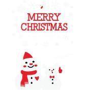 MuLuo PVC Creative Christmas Snowman Snowflakes Shopwindow Showcase Glass Stickers