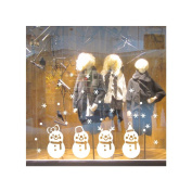MuLuo PVC Removable Snowman Snowflake Christmas Shop Home Window Decoration Wall Sticker