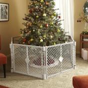 [US Stock] Evelove Free Standing Weather-Resistant Baby/Pet Gate Superyard XT Portable Playard, White