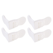 Kocome 4Pcs Baby Child Care Guard Protection Drawer Cabinet Door Right Lock Safety Tool