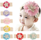 Meteora Baby Bow Headband Lace Flower Kids Hair Band Hair Tied