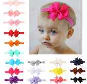 Meteora Chiffon Baby Headband Lovely Bow Toddler and Kids Hair Band