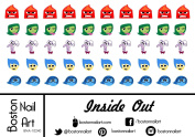 Inside Out - Waterslide Nail Decals - 50pc