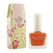 Alloya Natural Non Toxic Nail Polish, Water Based, Full Colour Orange Yellow Brown