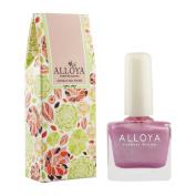 Alloya Natural Non Toxic Nail Polish, Water Based, Full Colour Pink