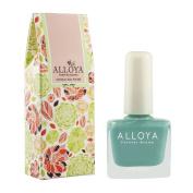 Alloya Natural Non Toxic Nail Polish, Water Based, Full Colour Blue