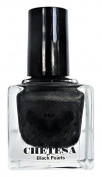 CHETESA Gems Collector Nail Lacquer Non-Toxic, Black Pearls, 15ml