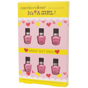 It's A Baby Works It's a Girl Cuccio Colour Minis Nail Polish, 6 Count