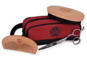 Beaver Scooter Beard and Moustache Grooming set. Beard Brush, Beard Comb, Grooming Scissors and Pouch