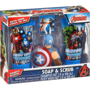 Marvel Avengers Soap & Scrub Gift Set, 4 pc Body Wash Shampoo