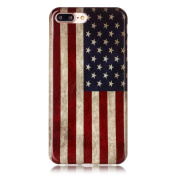 Sunvy iPhone 7 Case Retro American Flag Soft Silicone For Apple iPhone 7 with a Screen Protector