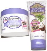Bundle (2 Items) Dirty Works Coconut Bod Scrube (200ml), Coconut Body Butter