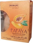 Hemani Halal Papaya Herbal Scrub Soap 120gm